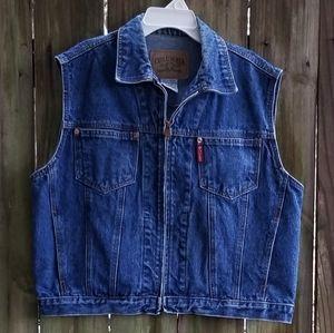 Columbia Vintage Jean Vest Size XL